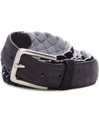 Tommy Bahama - Barrier Reef Leather & Braided Reversible Belt - Lyst