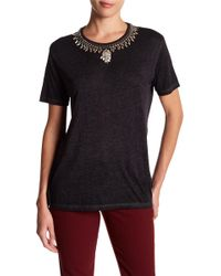 The Kooples - Mc Jersey Necklace Tee - Lyst