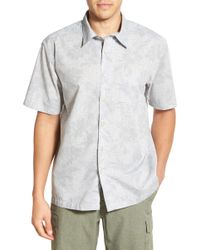 Cova - 'moana' Regular Fit Print Short Sleeve Sport Shirt - Lyst