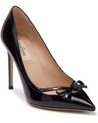 Valentino Valentino Garavani Patent Leather Bow Pump - Black