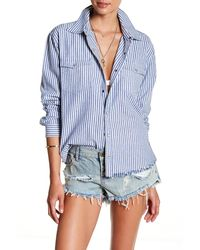 One Teaspoon Hampton Liberty Denim Shirt - Blue