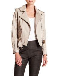 W118 by Walter Baker - Allison Sheep Leather Moto Jacket - Lyst