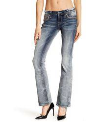 Rock Revival Betty Bootcut Rhinestone Embellished Jeans - Blue