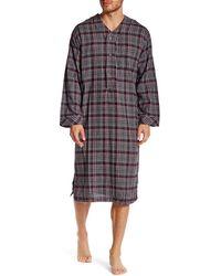 Majestic Filatures Long Sleeve Flannel Nightshirt - Gray