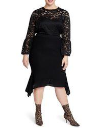 Rachel Roy Katelyn Skirt (plus Size) - Black