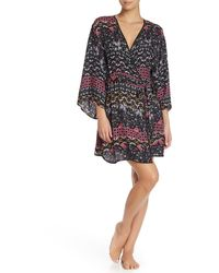 Josie Paisley Short Robe - Multicolour