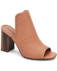 BCBGMAXAZRIA Fabiana Woven Block Heel Mule - Brown