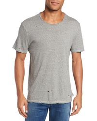 AG Jeans Ramsey Distressed T-shirt - Gray
