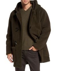 Vince - Fleece Toggle Coat - Lyst