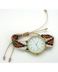Olivia Pratt - Women's Beaded Boho Quartz Watch - Lyst