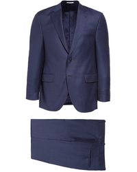 Peter Millar Classic Fit Solid Wool Suit - Blue