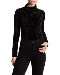 Lucca Couture Lucy Crushed Velvet Bodysuit - Black
