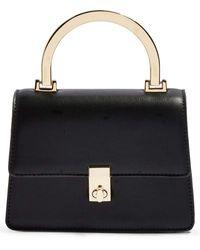 TOPSHOP Champagne Shoulder Bag - Black