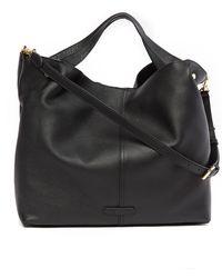 Vince Camuto Niki Leather Tote Bag - Black