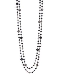 "Carolee - 72"" Assorted Faceted Bead Single Strand Necklace - Lyst"