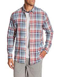 Tailor Vintage - Madras Long Sleeve Plaid Shirt - Lyst