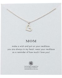 Dogeared - Sterling Silver Mom Open Heart Pendant Necklace - Lyst