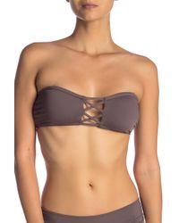 O'neill Sportswear - Salt Water Solid Bandeau Bikini Top - Lyst