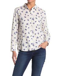 Velvet Heart Lynora Long Sleeve Button Down Shirt - Blue