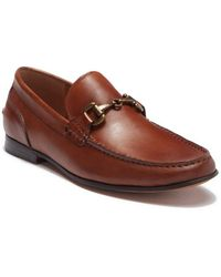 Kenneth Cole Reaction Crespo Leather Bit Loafer - Brown