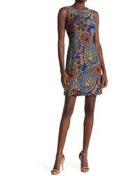 Tommy Hilfiger Paisley Sleeveless Sheath Dress - Multicolour