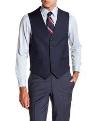 Tommy Hilfiger Hayes Modern Fit Suit Separate Vest - Blue