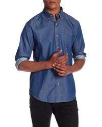 Weatherproof - Diamond Print Chambray Shirt - Lyst