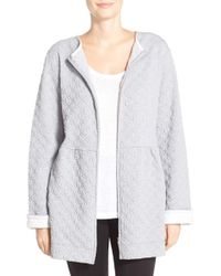 Carole Hochman - Front Zip Quilted Jacket Robe - Lyst