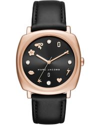 Marc Jacobs - Women's Mandy Leather Watch, 34mm - Lyst