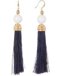 Trina Turk - Beads In Bloom Tassel Earring - Lyst