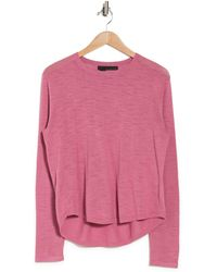 360cashmere Fadia Long Sleeve Knit Top - Pink