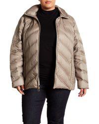 9b716cfddda Lyst - MICHAEL Michael Kors Quilted Packable-hood Down Jacket (plus ...