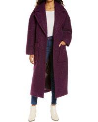 UGG UGG Hattie Long Faux Fur Coat - Purple