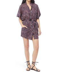 FRAME Floral Belted Shirt Dress - Multicolor
