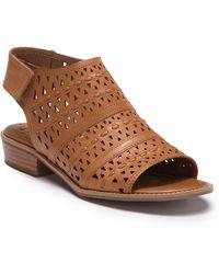 Söfft - Natalee Perforated Peep Toe Sandal - Lyst