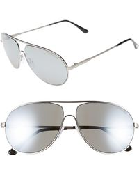 Tom Ford - 'cliff' 61mm Aviator Sunglasses - Lyst