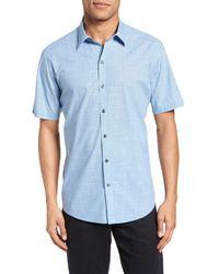 Zachary Prell Dunleavy Check Sport Shirt - Blue