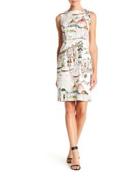 Chetta B - Novelty Print Sheath Dress - Lyst