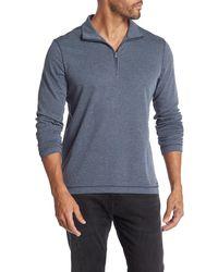 Michael Kors Interlock 1/4 Zip Pullover - Blue