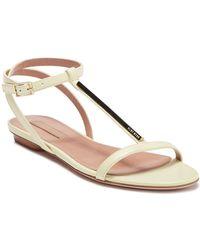 BOSS Staple T-strap Sandal Flat - Multicolor