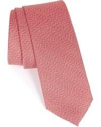 1901 - 'ketel' Solid Silk Tie - Lyst