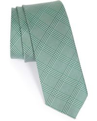 1901 - 'seagar' Plaid Silk Tie - Lyst