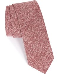 1901 - 'pineda' Linen & Cotton Blend Tie - Lyst