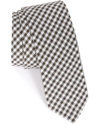 1901 - 'dutra' Gingham Seersucker Cotton Tie - Lyst