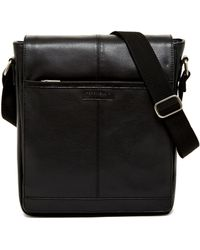 Perry Ellis - North/south Leather Messenger Bag - Lyst
