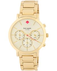 Kate Spade - Women's Gramercy Grand Chonograph Bracelet Watch - Lyst
