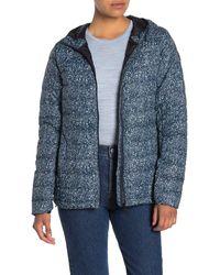 Lolë Emeline Floral Hooded Down Puffer Jacket - Blue