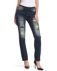 Rock Revival Mid-rise Distressed Skinny Jeans - Blue