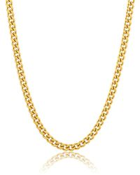 Adornia 14k Gold Vermeil Cuban Link Chain - Yellow