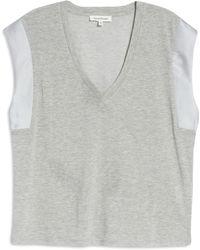 Heartloom Aurora V-neck T-shirt - Gray